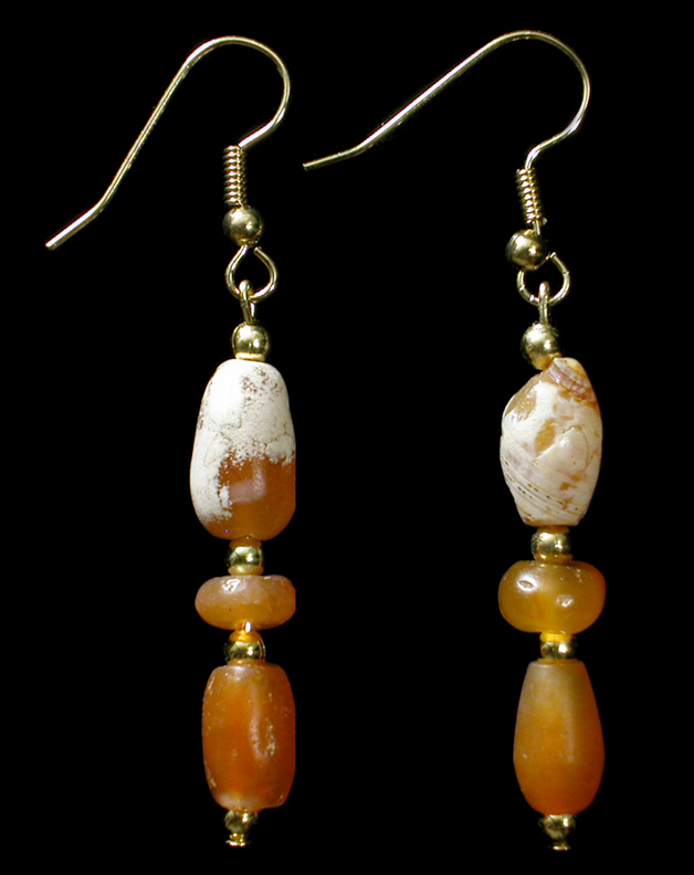 Ancient Egyptian Red Glass Earring