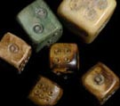 ancient bronze bone Roman legionary legionnaire dice for sale